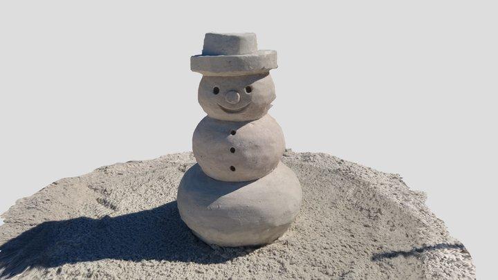 Snowman Sand Sculpture 3D Model