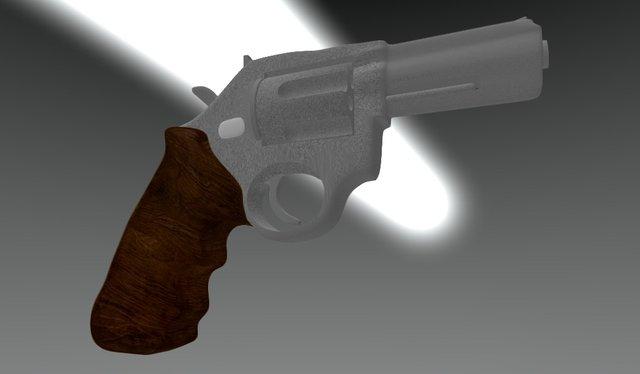 Modelagem Revolver. 3D Model