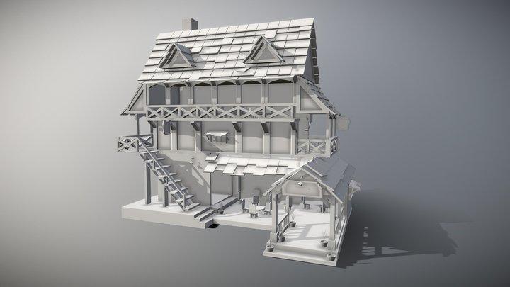 Tavern Medieval Modeling 3D Model