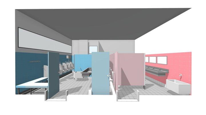 Toilet GF - Color 3D Model