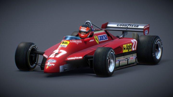 Ferrari 126C2/Gilles Villeneuve/San Marino 1982 3D Model