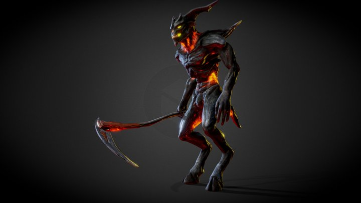 Demon Black 3D Model