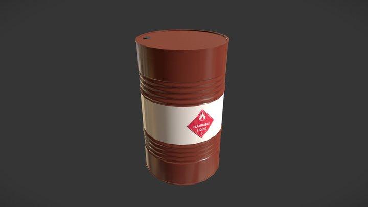 Oil Barrel - Lowpoly PBR 3D Model