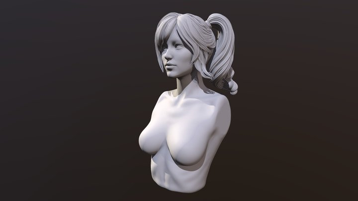 Hair Sculpt 3 3D Model