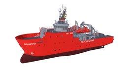 Rescue Ship 3D Model
