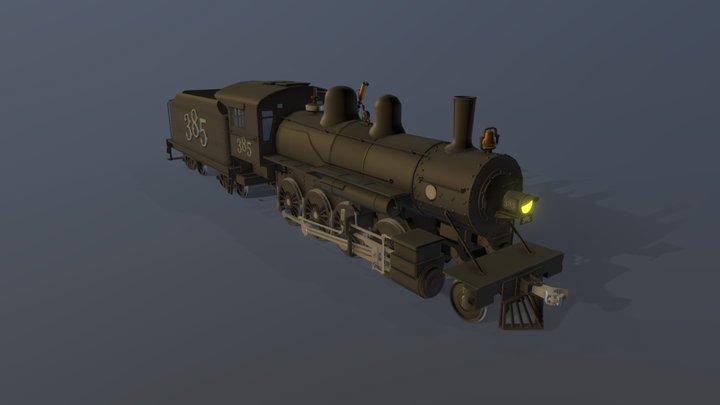 Steam Locomotive 2-8-0 3D Model