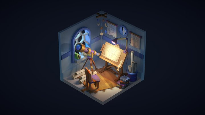 Astrologer's Chambers 3D Model
