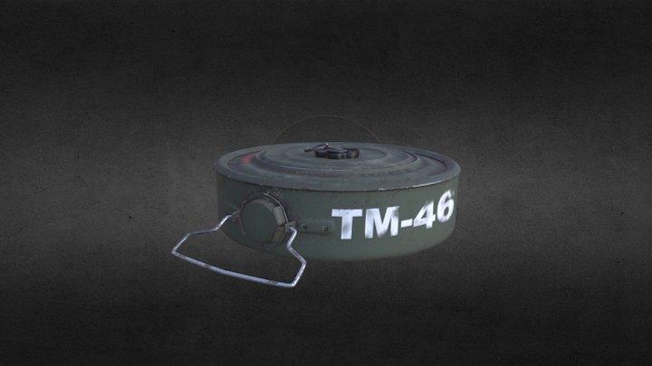Anti-tank mine 3D Model