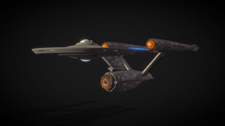 U.S.S. Enterprise V1 (ST Fan Design) 3D Model