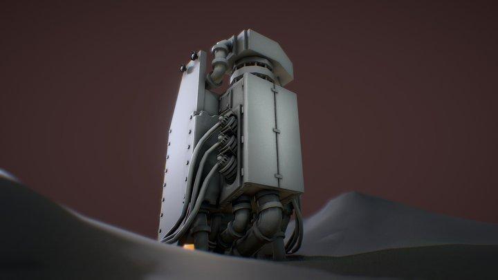 Industrial Pump System 3D Model