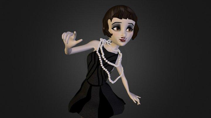 Lola the Flapper Girl 3D Model