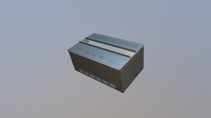AWA 20-50 50 cm camino elettrico ad acqua AFIRE 3D Model