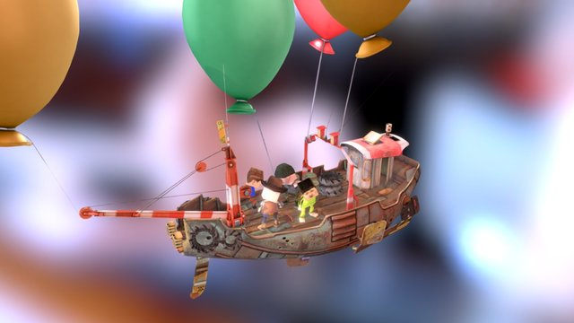 Dancing On A Boat 3D Model