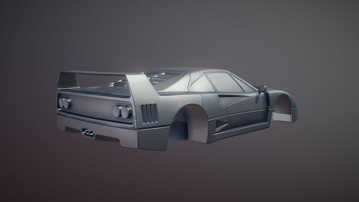Ferrari F40 Modified 3D Model