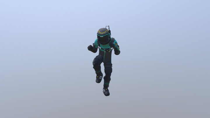 Hazmat Fortnite Bendy dance 3D Model