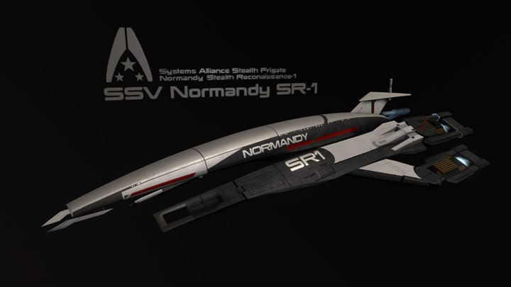 Mass Effect - SSV Normandy SR-1 3D Model