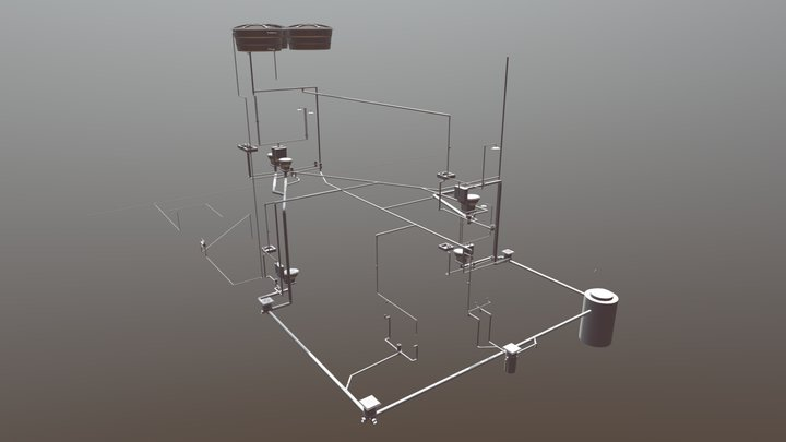 Projeto Hidrossanitário - Casa SBU 3D Model