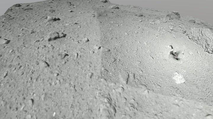 Hayabusa 2 landing site 3D Model