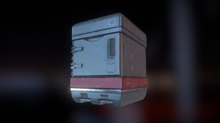 SciFi - Locker 3D Model