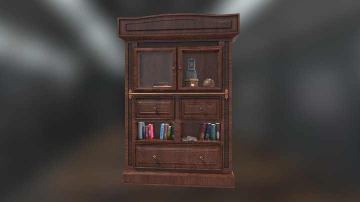 Bookcase Game Model 3D Model