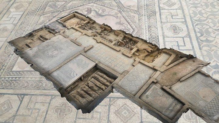 Villa romana La Tejada, Quintanilla de la Cueza 3D Model