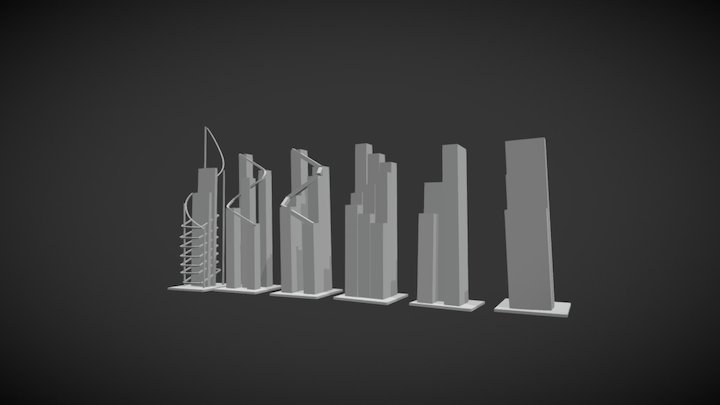 Skyscraper Series 3D Model
