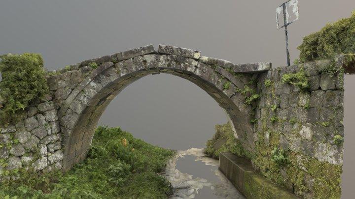 Monzengawa spectacle bridge 3D Model