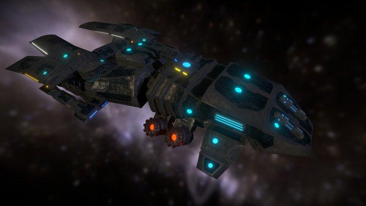 Cargo space craft A1 3D Model