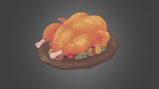 Thanksgiving Turkey 3D Model