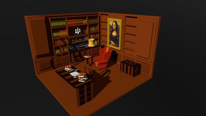 Study - mansion room 3D Model