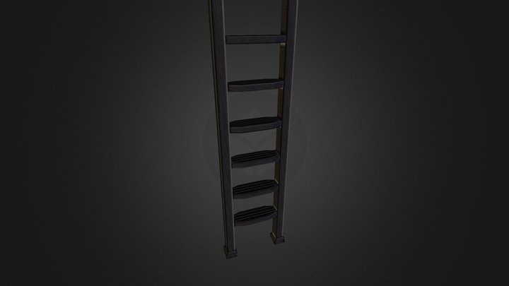 Ladder to be propped against wall. 3D Model