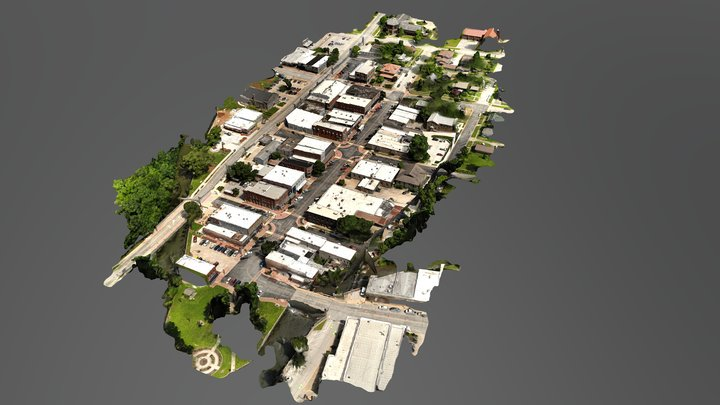 Siloam Springs Downtown 3D Model