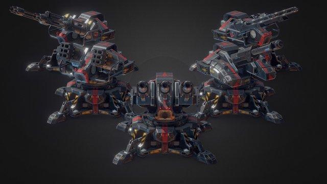 Sci-Fi Effects: Turrets 3D Model