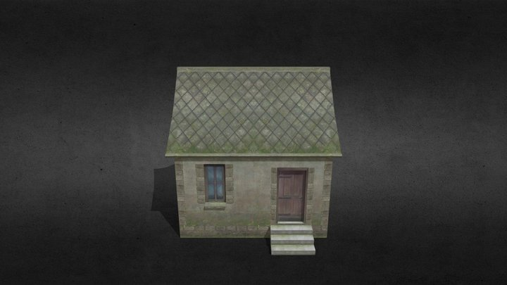 Single Room Building WWII 3D Model