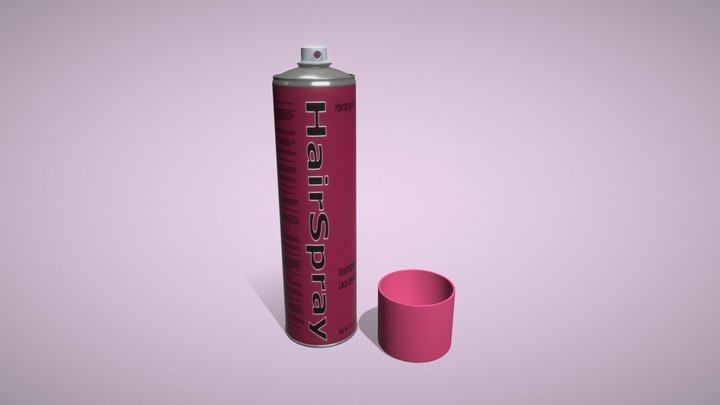 Salon Hairspray 3D Model