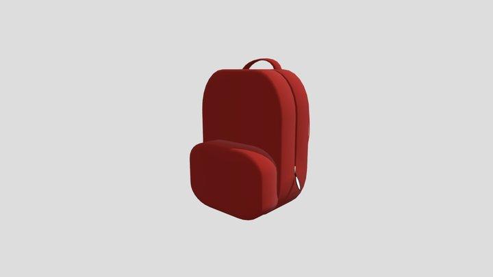 Red Backpack 3D Model