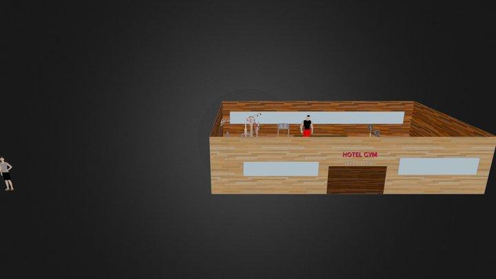Skyline Hotel Gym 3D Model