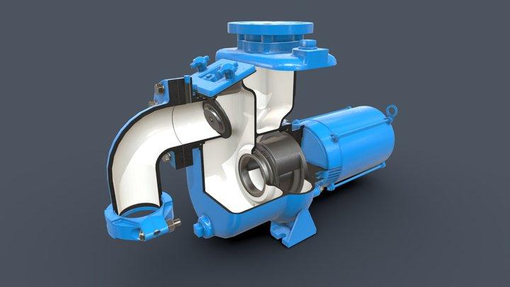 35-45MPC Self-Priming Pump 3D Model