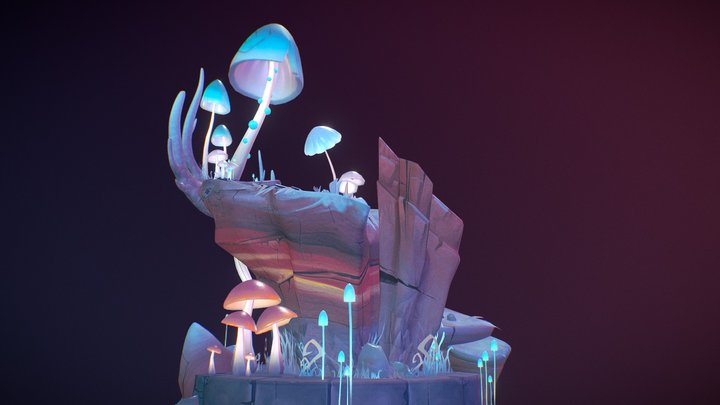 Fungi Forest 3D Model