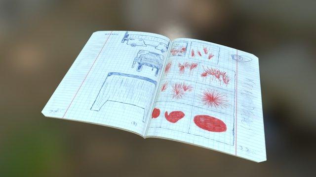 Secret notebook from Paper Hospital map 3D Model