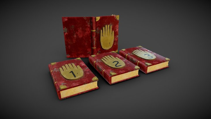 Gravity Falls journals 3D Model