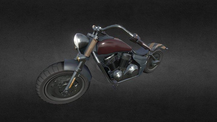 Muscle Hog Motorbike PBR 3D Model