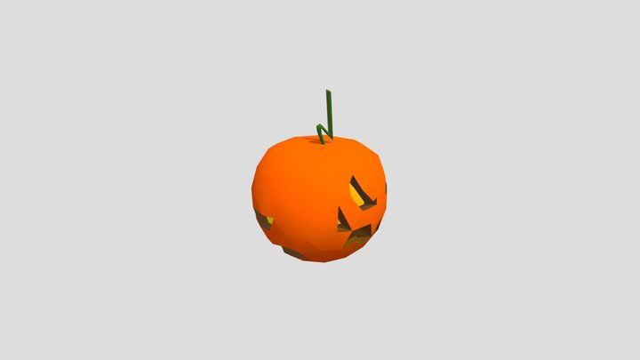 Pumpkin of comedy and tragedy 3D Model