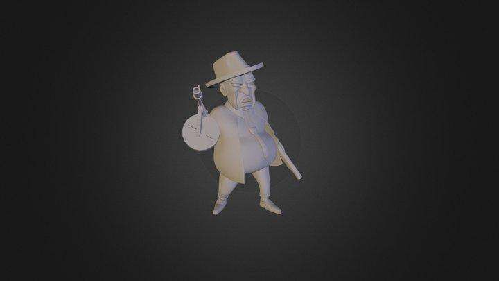 Stylized Gangster 3D Model
