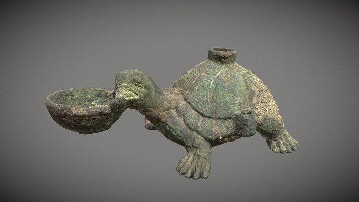 Chinese Turtle Lamp 3D Model