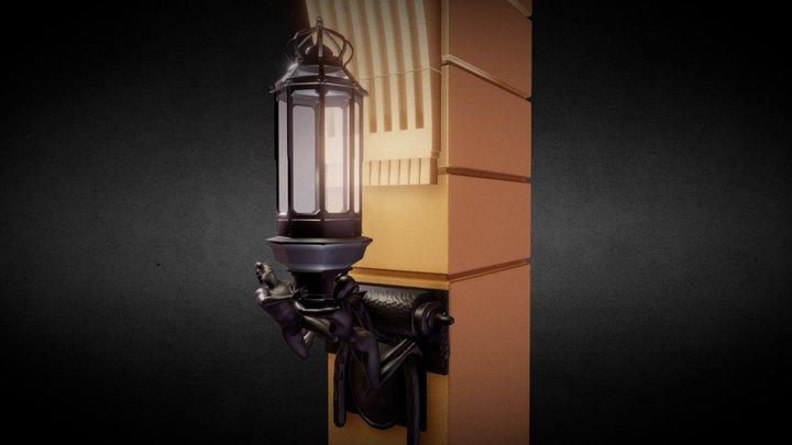 Hotel Adlon Main Entrance Lantern 3D Model
