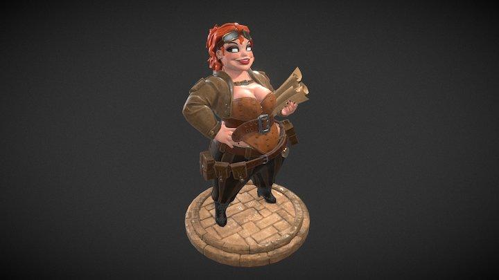 Steampunk girl_2 3D Model