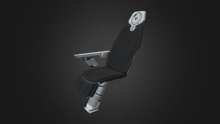 Sci-Fi Studio Chair 3D Model