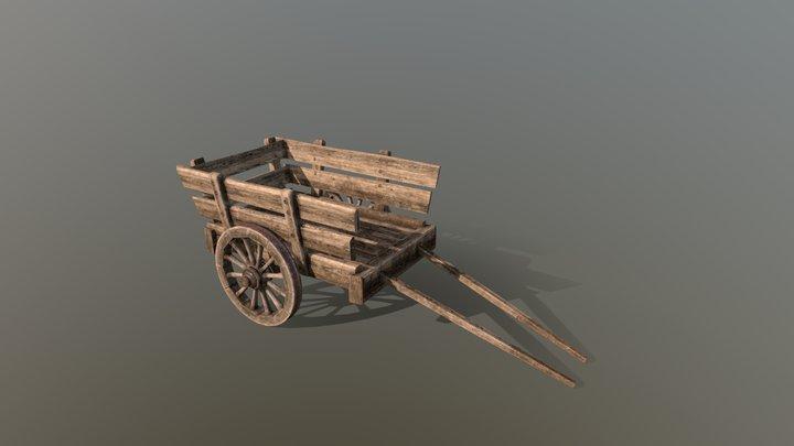 Medieval Cart 2w 3D Model