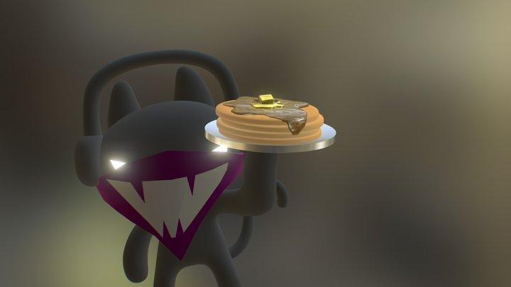 Monstercat Pancakes 3D Model